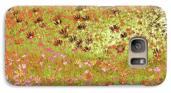 Galaxy Case featuring the digital art Flower Praise by Linde Townsend