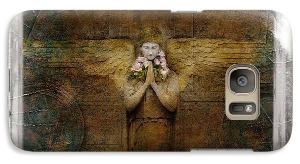 Galaxy Case featuring the photograph Flower Spes Angel by Craig J Satterlee