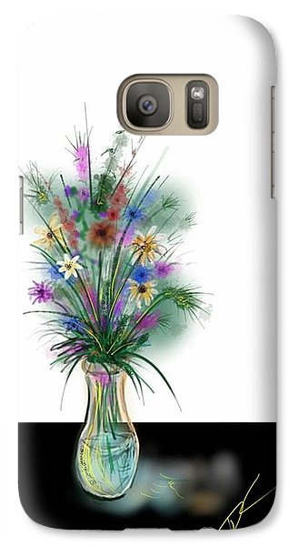 Galaxy Case featuring the digital art Flower Study One by Darren Cannell