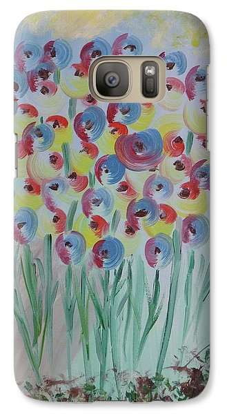 Galaxy Case featuring the painting Flower Twists by Barbara Yearty
