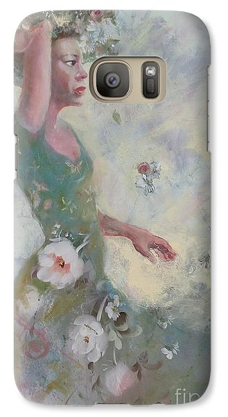 Galaxy Case featuring the painting Flower Vender by Gertrude Palmer