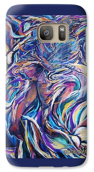 Galaxy Case featuring the painting Flowering by Dawn Fisher