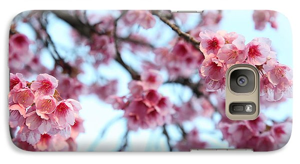 Galaxy Case featuring the photograph flowering of the almond tree, Jerusalem by Yoel Koskas