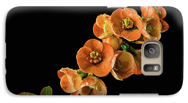 Galaxy Case featuring the photograph Flowering Quince Orange by Mary Jo Allen