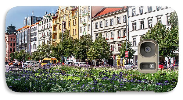 Galaxy Case featuring the photograph Flowering Wenceslas Square In Prague by Jenny Rainbow