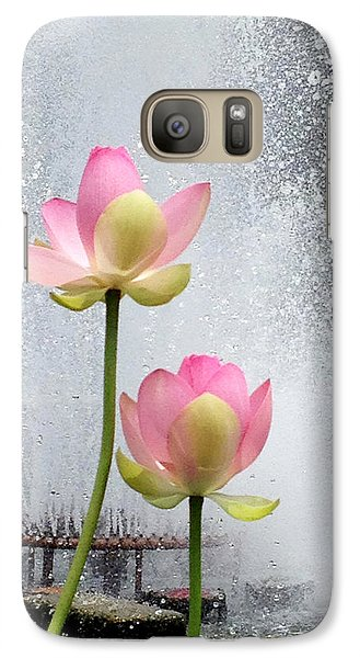 Galaxy Case featuring the photograph Flowers And Fountains by Helen Haw