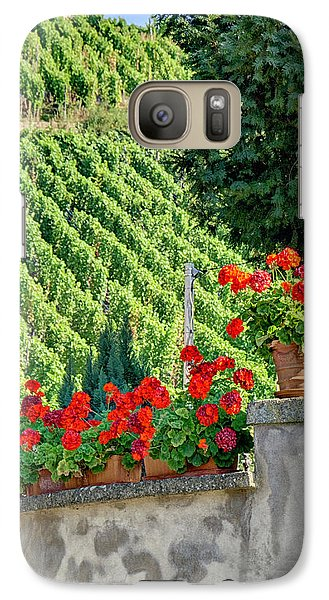 Galaxy Case featuring the photograph Flowers And Vines by Alan Toepfer