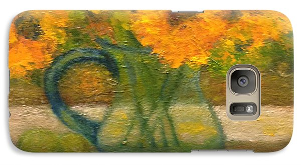 Galaxy Case featuring the painting Flowers By The Window by Marie Hamby