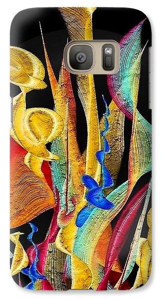 Galaxy Case featuring the digital art Flowers Dream By Nico Bielow by Nico Bielow