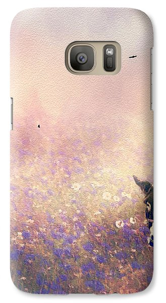 Galaxy Case featuring the photograph Flowers For Breakfast by Diane Schuster