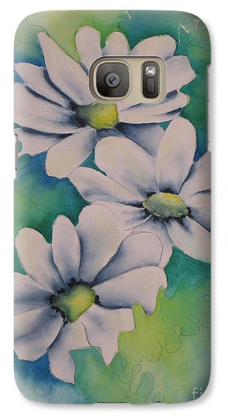 Galaxy Case featuring the painting Flowers For You by Chrisann Ellis