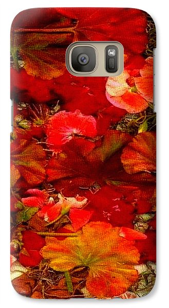 Galaxy Case featuring the mixed media Flowers For You by Ray Tapajna