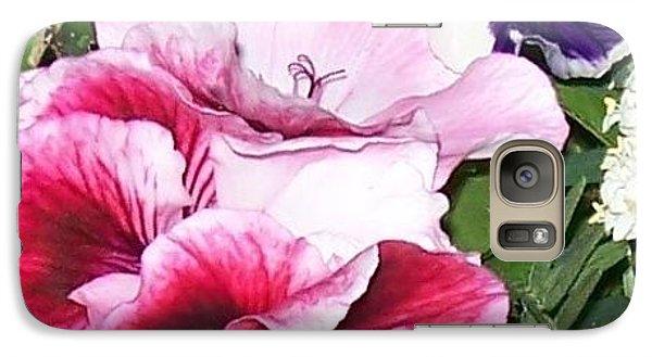 Galaxy Case featuring the photograph Flowers From The Heart by Jolanta Anna Karolska