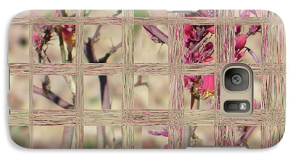 Galaxy Case featuring the digital art Flowers In Glass by Lenore Senior