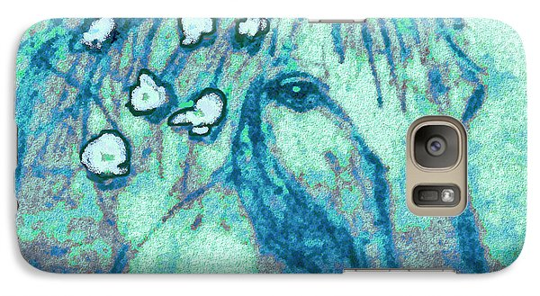 Galaxy Case featuring the painting Flowers In Her Hair by Holly Martinson
