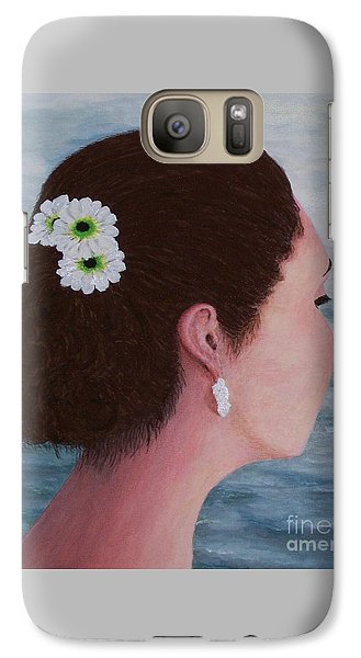 Galaxy Case featuring the painting Flowers In Her Hair by Judy Kirouac