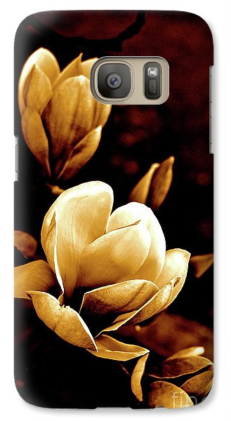 Galaxy Case featuring the photograph Flowers In Sepia  by Cathy Dee Janes