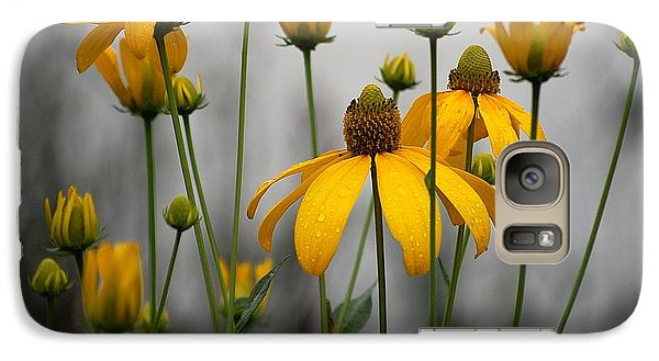 Galaxy Case featuring the photograph Flowers In The Rain by Robert Meanor