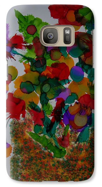 Galaxy Case featuring the painting Flowers In The Vase # 63 by Sima Amid Wewetzer
