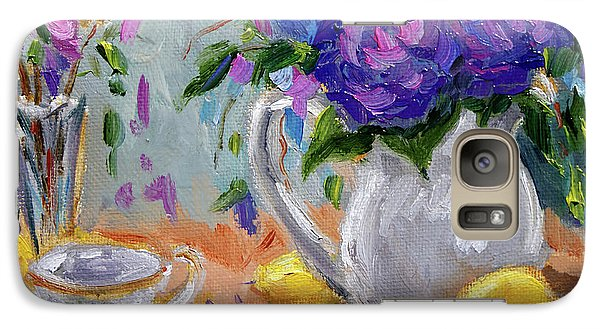 Galaxy Case featuring the painting Flowers Lemons by Jennifer Beaudet