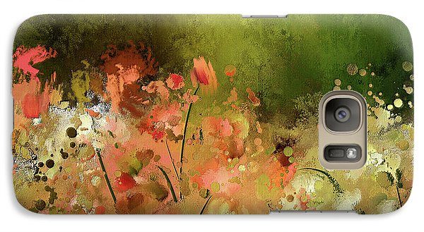 Galaxy Case featuring the digital art Flowers Of Corfu by Lois Bryan