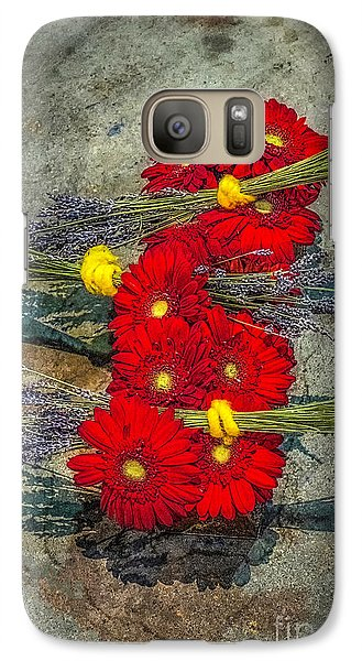 Galaxy Case featuring the photograph Flowers On Rocks by Nick Zelinsky