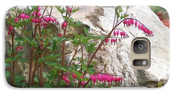 Galaxy Case featuring the digital art Flowers On The Rocks by Barbara S Nickerson