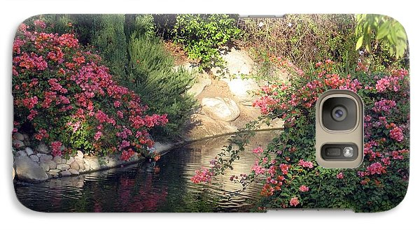 Galaxy Case featuring the photograph Flowers Over Pond by Amanda Eberly-Kudamik