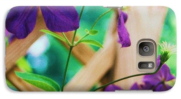 Galaxy Case featuring the painting Flowers Purple by Eric  Schiabor