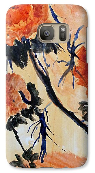 Galaxy Case featuring the painting Flowers by Sandy McIntire