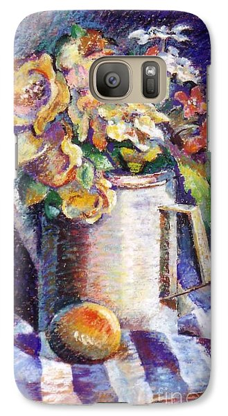 Galaxy Case featuring the painting Flowers by Stan Esson