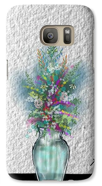 Galaxy Case featuring the digital art Flowers Study Two by Darren Cannell
