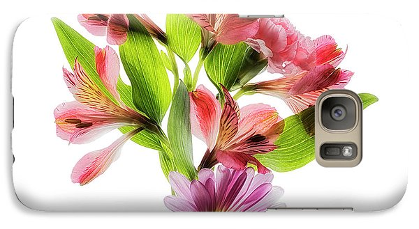 Galaxy Case featuring the photograph Flowers Transparent  2 by Tom Mc Nemar