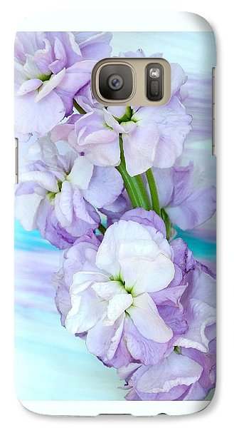 Galaxy Case featuring the mixed media Fluffy Flowers by Marsha Heiken