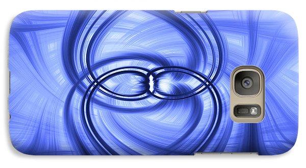 Galaxy Case featuring the digital art Fluid Blue by Carolyn Marshall