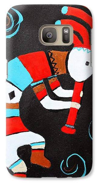 Galaxy Case featuring the painting Flute Player by M Diane Bonaparte