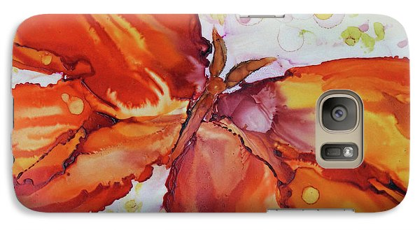 Galaxy Case featuring the painting Flutter by Joanne Smoley
