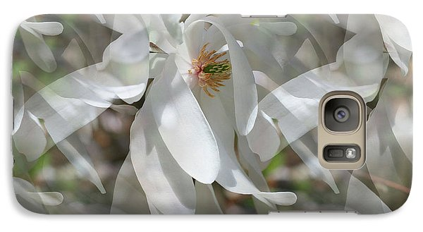 Galaxy Case featuring the photograph Fluttering Magnolia Petals by Smilin Eyes  Treasures
