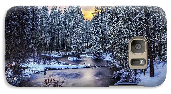 Galaxy Case featuring the photograph Fly Fisherman On The Metolius by Cat Connor