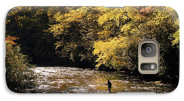Galaxy Case featuring the photograph Fly Fisherman On The Tellico - D010008 by Daniel Dempster