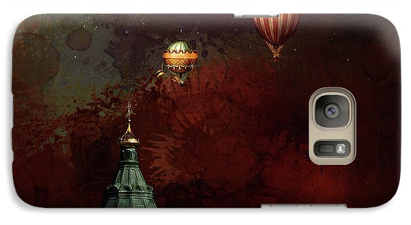 Galaxy Case featuring the digital art Flying Balloons Over Stockholm by Jeff Burgess
