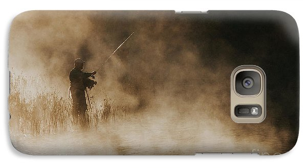 Galaxy Case featuring the photograph Flying Fishing by Iris Greenwell