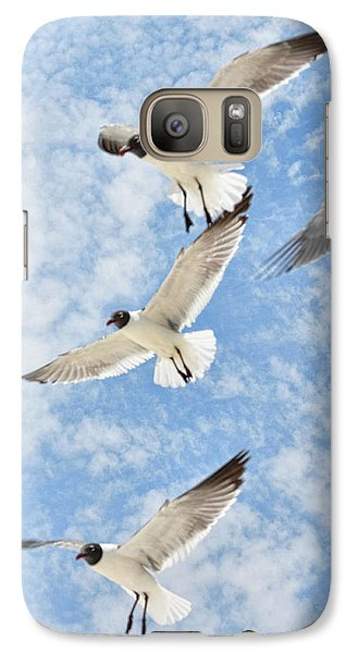 Galaxy Case featuring the photograph Flying High by Jan Amiss Photography