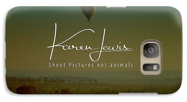 Galaxy Case featuring the photograph Flying High On The Masai Mara by Karen Lewis