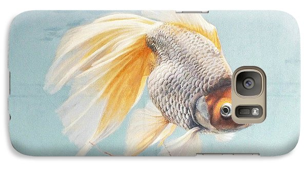 Flying In The Clouds Of Goldfish Galaxy S7 Case by Chen Baoyi