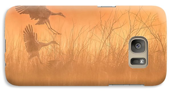 Galaxy Case featuring the photograph Flying Into The Light And Fog by Kelly Marquardt
