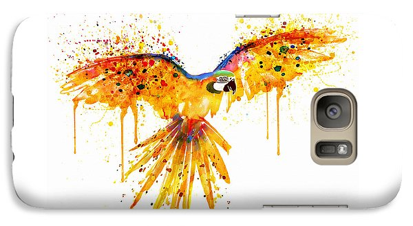 Flying Parrot Watercolor Galaxy S7 Case by Marian Voicu
