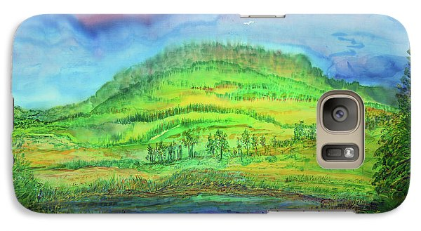 Galaxy Case featuring the painting Flying Solo by Susan D Moody