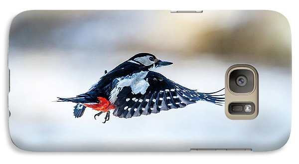 Galaxy Case featuring the photograph Flying Woodpecker by Torbjorn Swenelius