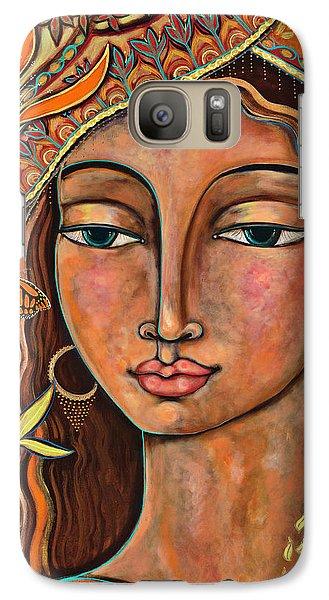 Rose Galaxy S7 Case - Focusing On Beauty by Shiloh Sophia McCloud